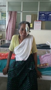 Ammukutty - post-op in the hospital