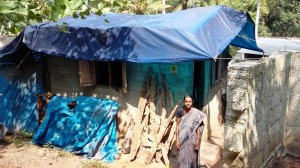 This dwelling is in a terrible condition for this poor family of three. They are trying to build a new place on the adjoinning land and have spent £1000 (owing £250). A further £1200 is needed to finish the new place.