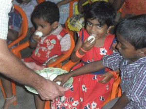 Neyyattinkara - nursey school 'egg and milk' project; chicken project (2014)